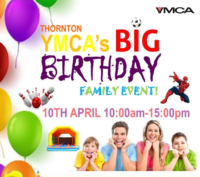 Come Along To YMCA Thornton's BIG Birthday Event On Sunday